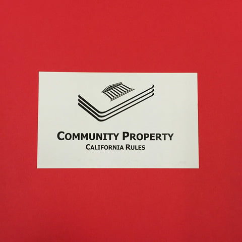 Community Property (CA) Printed Flashcards