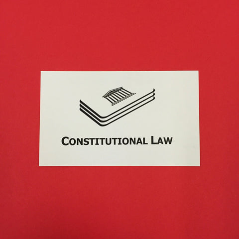 Constitutional Law Printed Flashcards