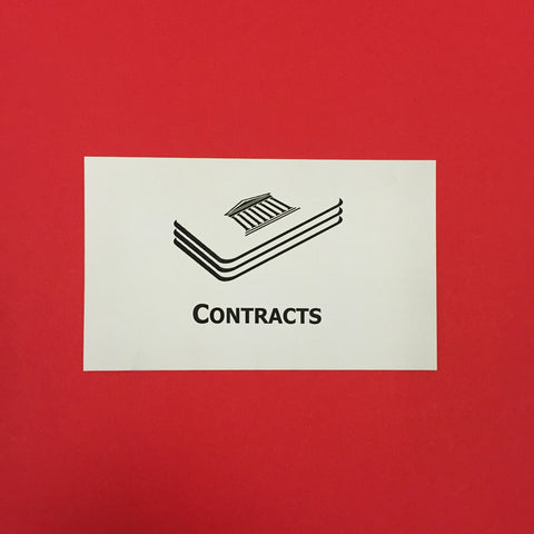 Contracts Printed Flashcards