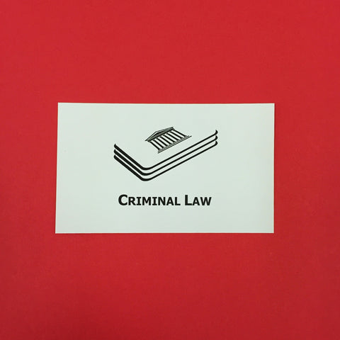 Criminal Law Printed Flashcards