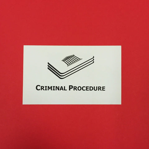 Criminal Procedure Printed Flashcards