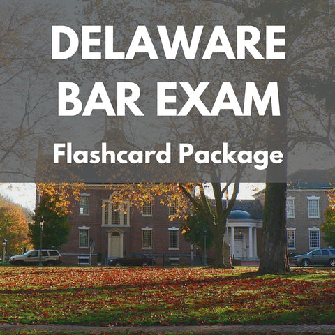 Delaware Bar Exam Flashcard Package