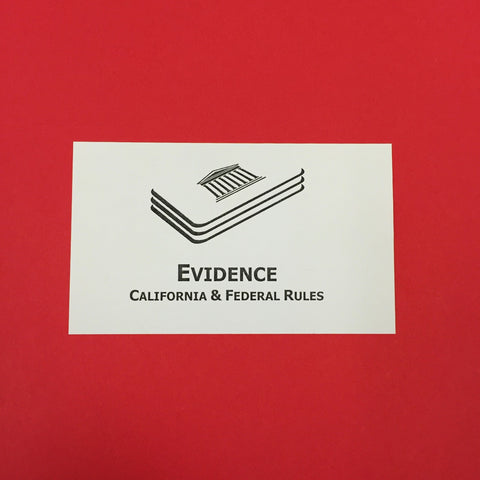 Evidence (CA) Printed Flashcards