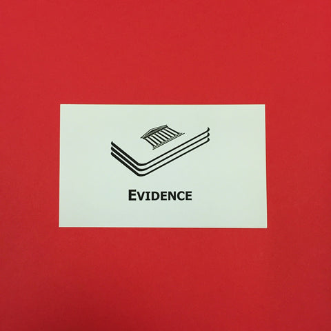 Evidence Printed Flashcards