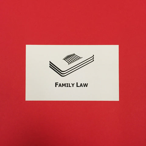Family Law Printed Flashcards