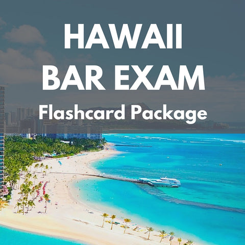 Hawaii Bar Exam Flashcard Package