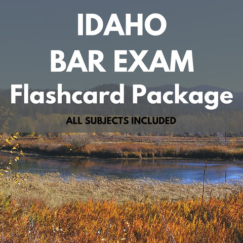 Idaho Bar Exam Flashcard Package