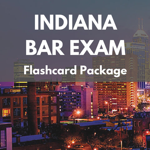 Indiana Bar Exam Flashcard Package