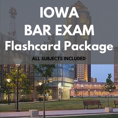 Iowa Bar Exam Flashcard Package