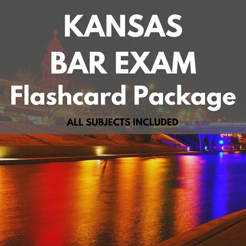 Kansas Bar Exam Flashcard Package