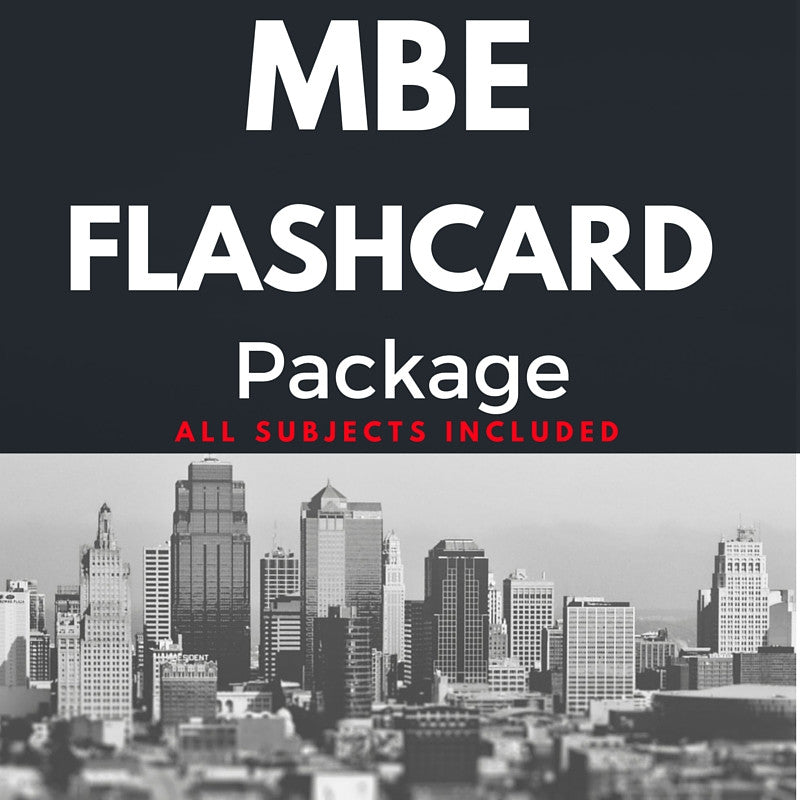 Multistate Bar Exam Flashcard Package