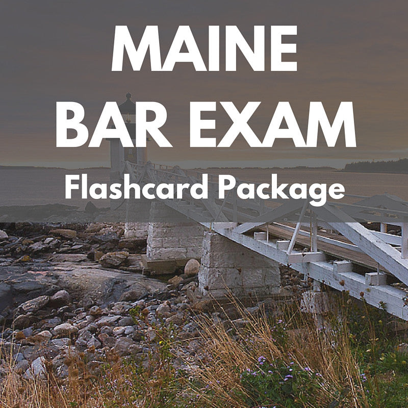 Maine Bar Exam Flashcard Package