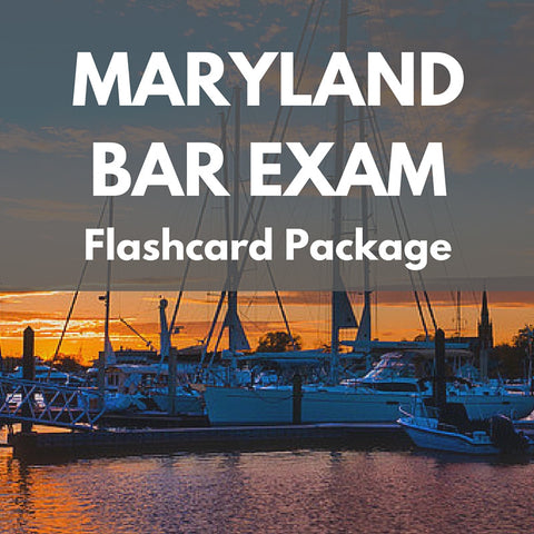 Maryland Bar Exam Flashcard Package