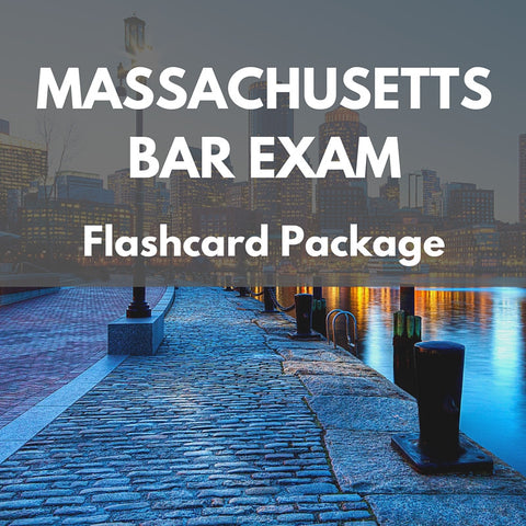 Massachusetts Bar Exam Flashcard Package