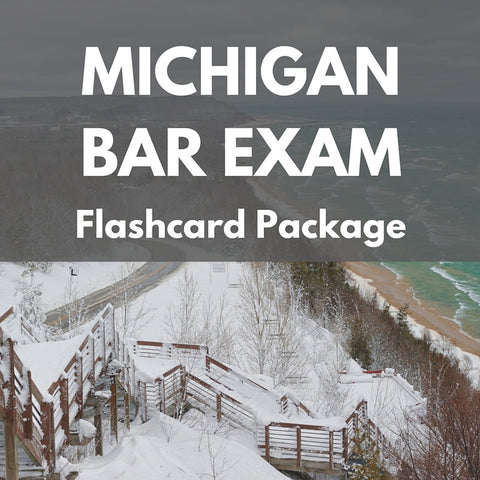 Michigan Bar Exam Flashcard Package