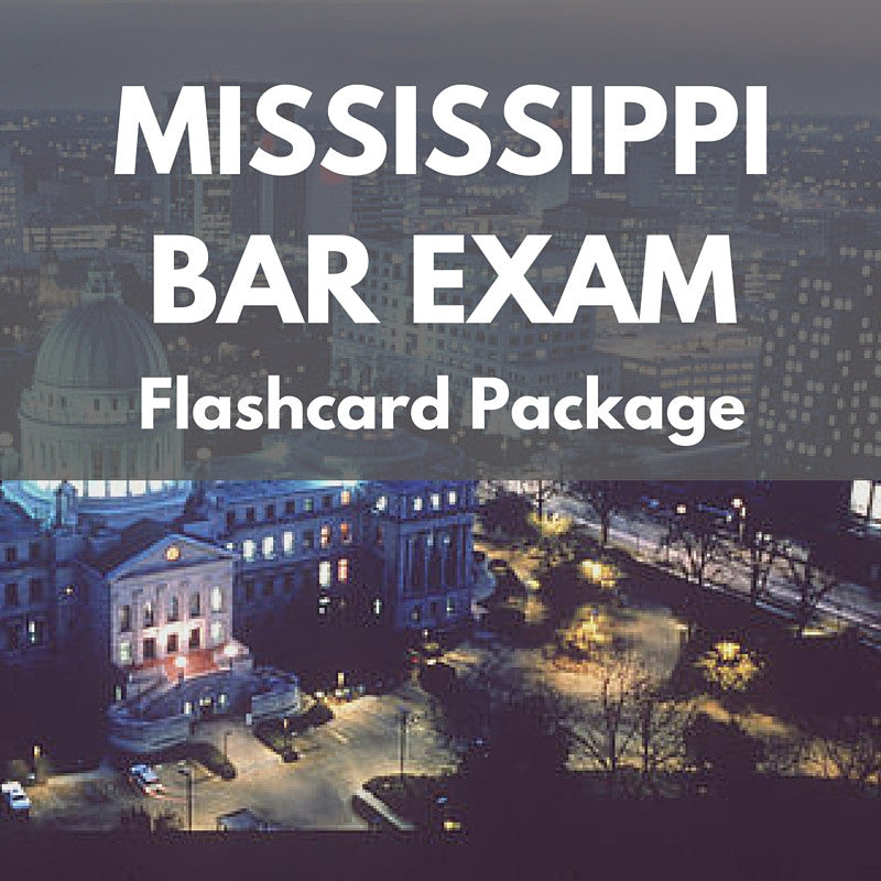 Mississippi Bar Exam Flashcard Package