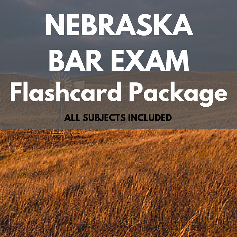 Nebraska Bar Exam Flashcard Package