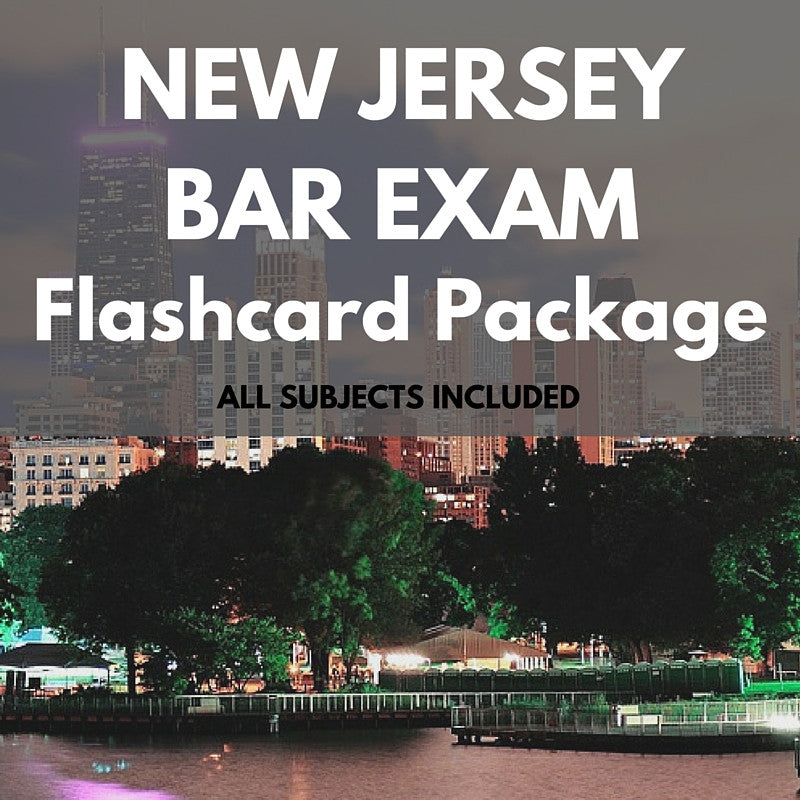 New Jersey Bar Exam Flashcard Package