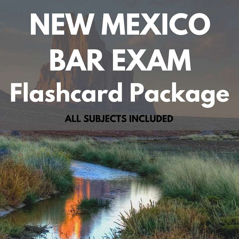 New Mexico Bar Exam Flashcard Package