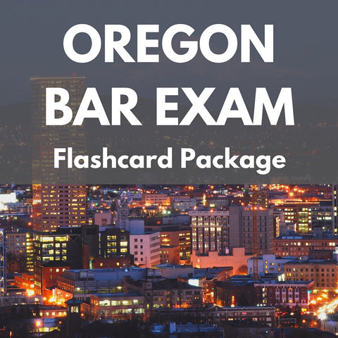 Oregon Bar Exam Flashcard Package