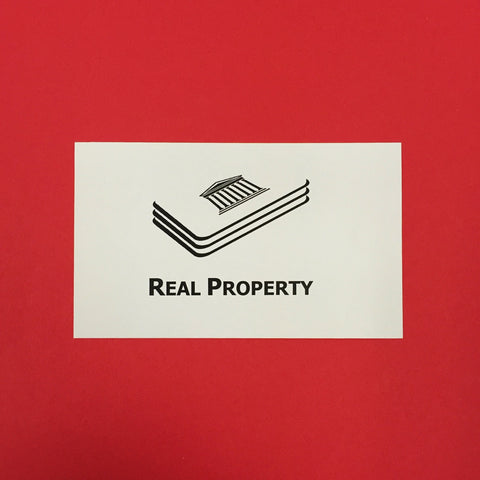 Real Property Printed Flashcards