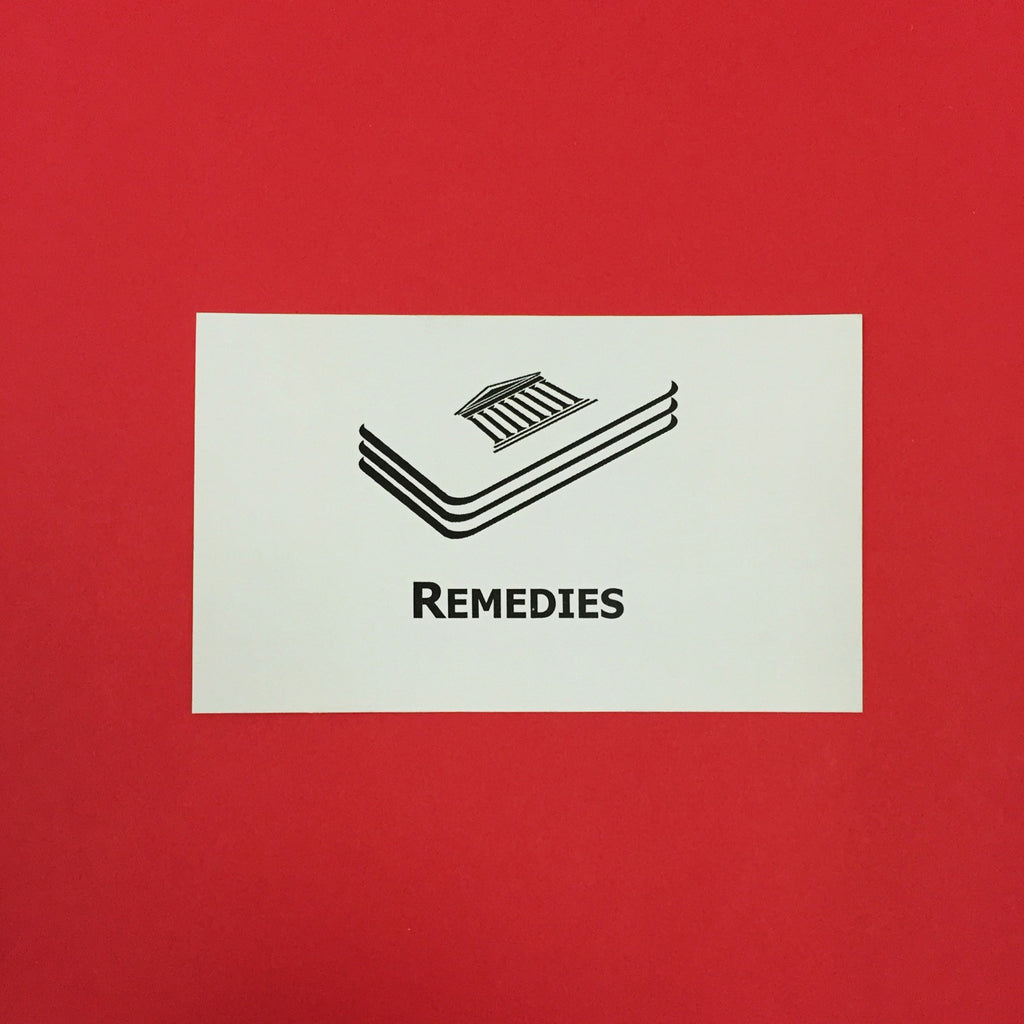 Remedies (CA) Printed Flashcards
