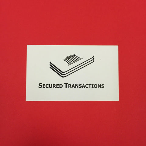 Secured Transactions Printed Flashcards