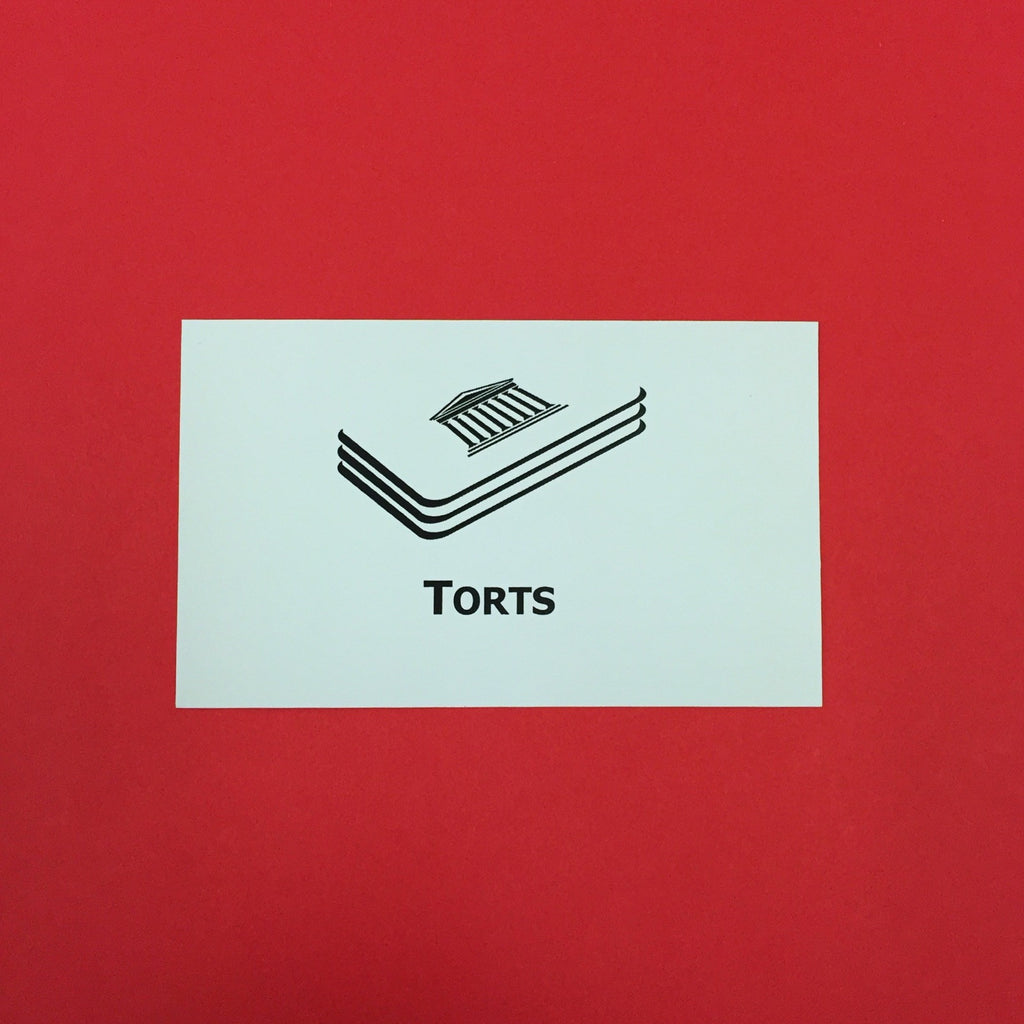 Torts Printed Flashcards