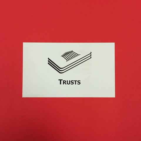 Trusts Printed Flashcards