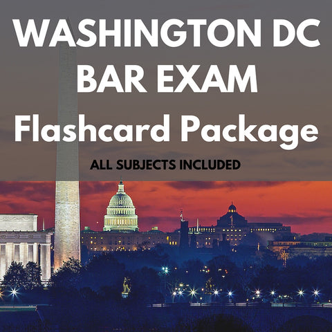 Washington D.C. Bar Exam Flashcard Package