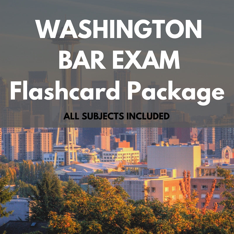 Washington Bar Exam Flashcard Package