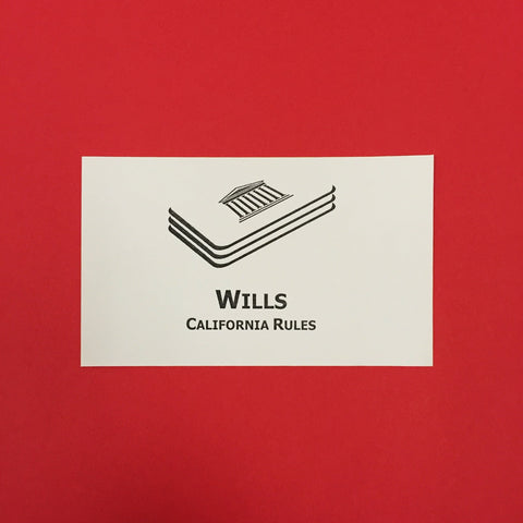 Wills (CA) Printed Flashcards
