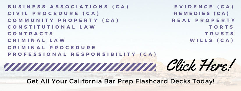 Multistate Bar and Essay Exam Flashcards