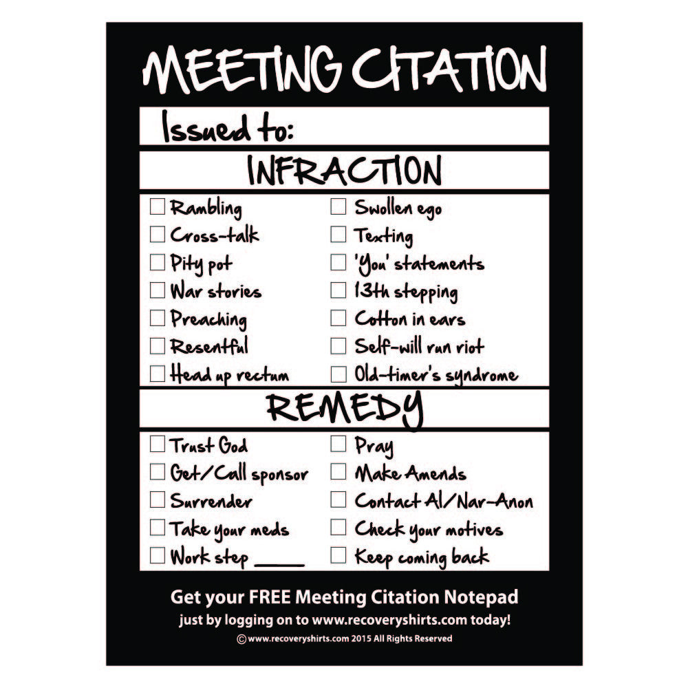 Meeting Citation Notepad