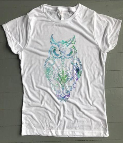 Boho Watercolor Owl Women's Tee - Weekend Originals