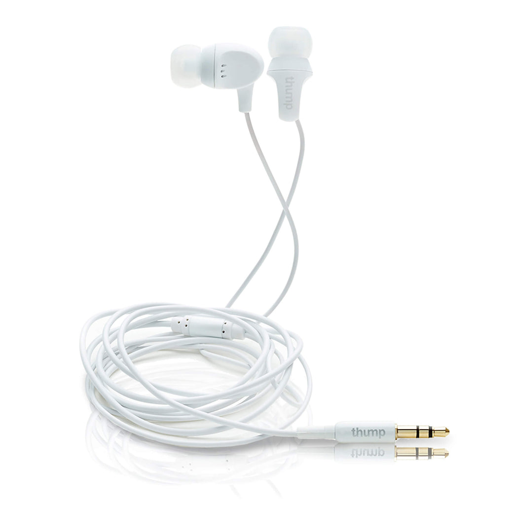 ComfortFit Earphones, White