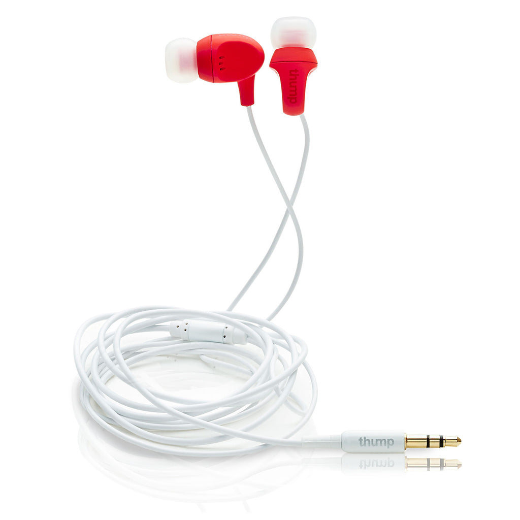 ComfortFit Earphones, Red