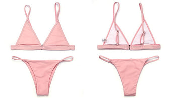 FLASH SALE Minimal Brazilian Two Piece Bikini Nude Pink