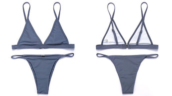 Minimal Brazilian Two Piece Bikini Grey