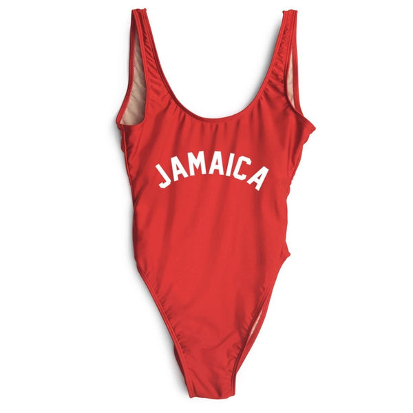 Jamaica Printed One Piece Swimsuit - Various Colours