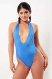 Made to Order Seamless Plunge Halter High Leg Swimsuit