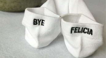 Bye Felicia Embroidered Socks