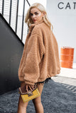 Oversized Teddy Bear Fur Bomber Jacket 4 Colours