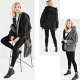 Reversible Faux Shearling Two Tone Hooded Oversized Teddy Jacket 3 Colours