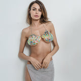 Rainbow Scale Metal Chain Bra