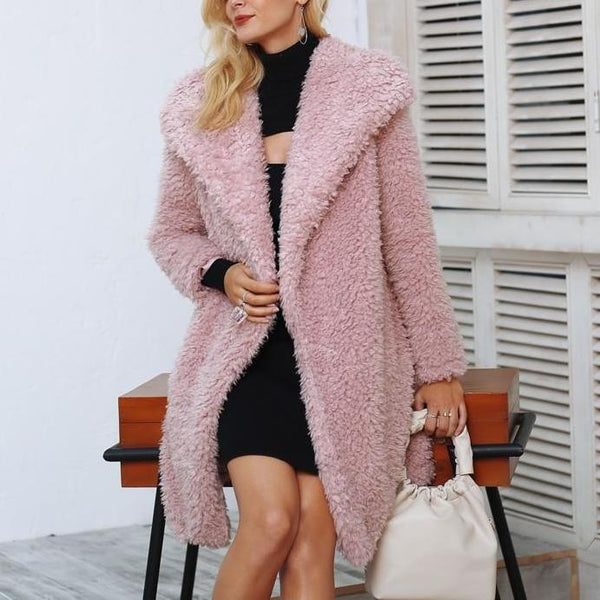 Shaggy Teddy Bear Longline Faux Fur Coat 2 Colours