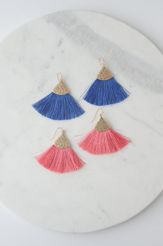 Soft Fan Earring w/ Gold Accent