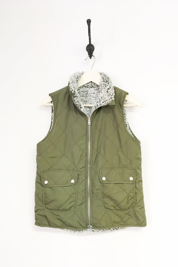 Quilted + Sherpa Reversible Vest