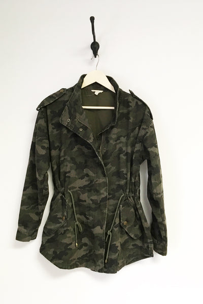 Nelle Washed Camo Utility Jacket-Plus