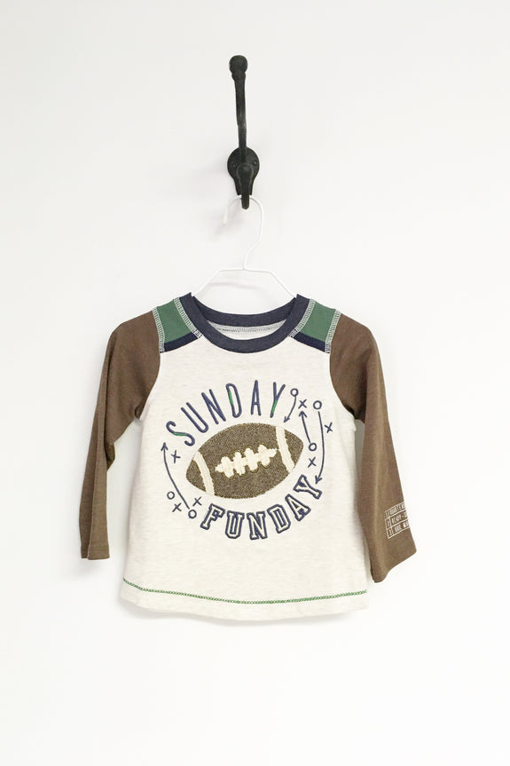 Boys Long Sleeve Football Tee